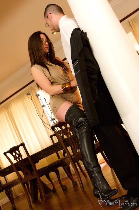 Miss Hybrid thigh boots mistress